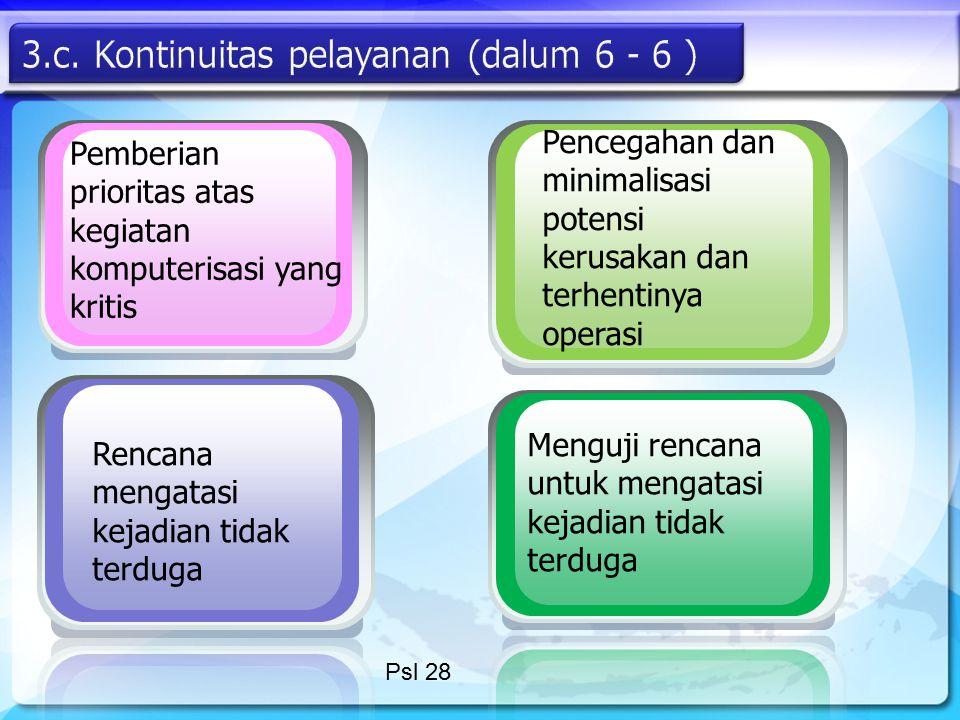 3.c. Kontinuitas pelayanan (dalum 6 - 6 )