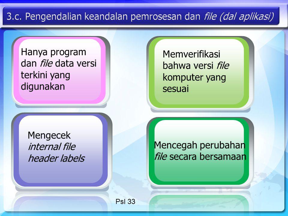 3.c. Pengendalian keandalan pemrosesan dan file (dal aplikasi)