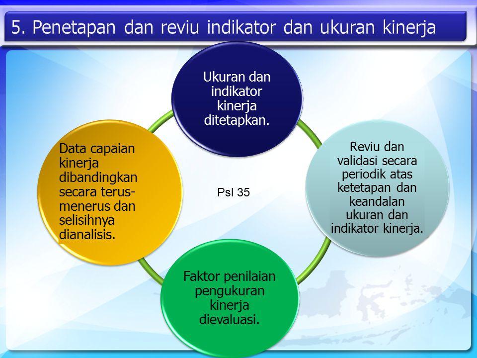5. Penetapan dan reviu indikator dan ukuran kinerja