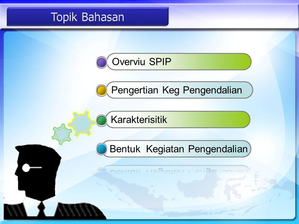 Topik Bahasan Overviu SPIP Pengertian Keg Pengendalian Karakterisitik