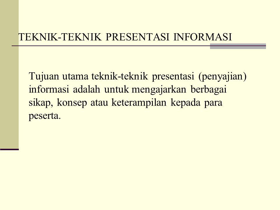 TEKNIK-TEKNIK PRESENTASI INFORMASI