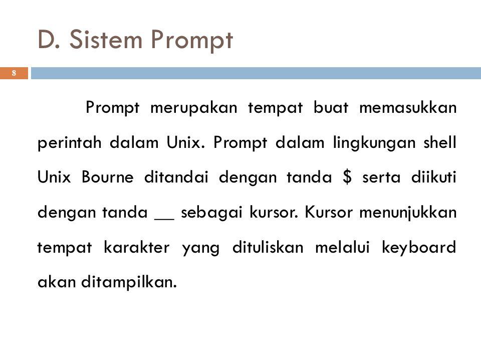D. Sistem Prompt