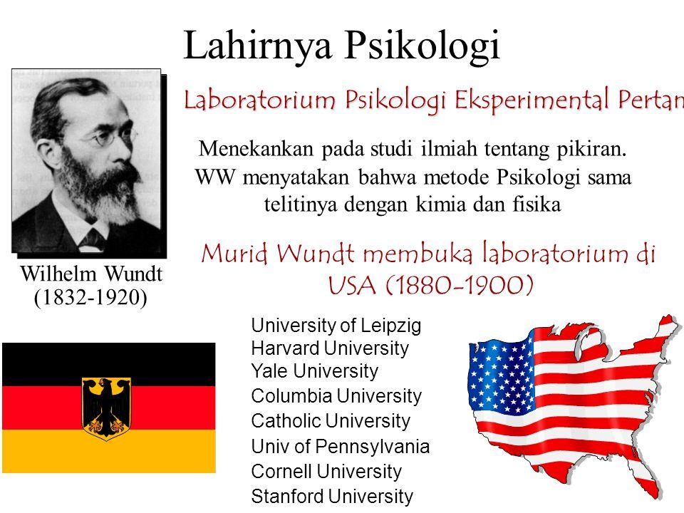 Lahirnya Psikologi Laboratorium Psikologi Eksperimental Pertama (1879)