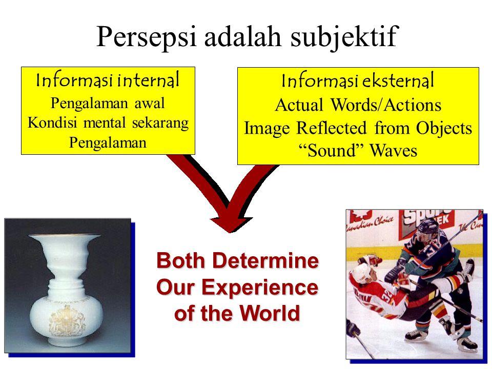 Persepsi adalah subjektif