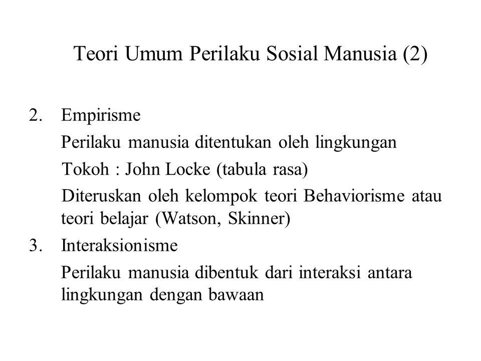 Teori Umum Perilaku Sosial Manusia (2)
