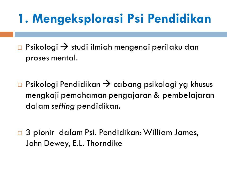 1. Mengeksplorasi Psi Pendidikan