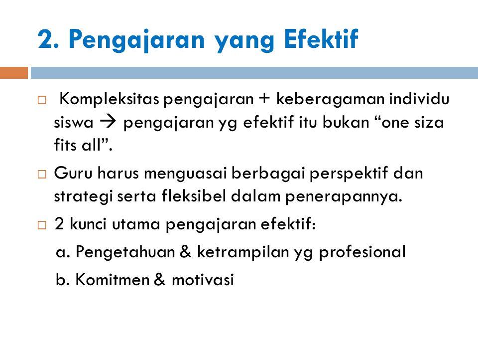 2. Pengajaran yang Efektif
