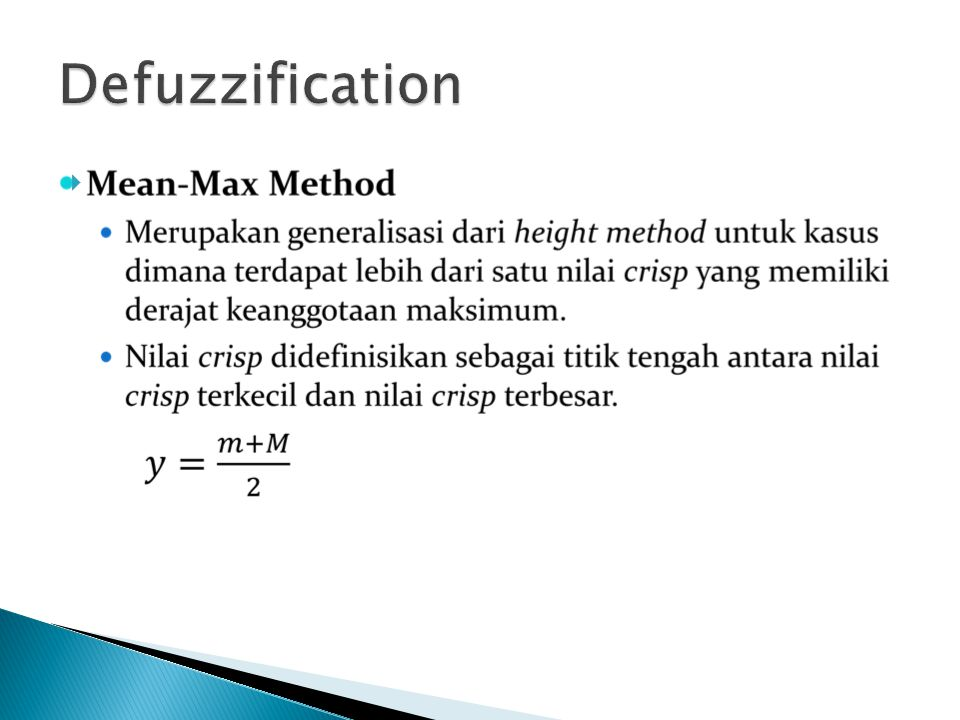Defuzzification