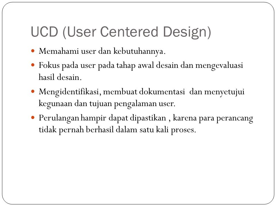 UCD (User Centered Design)