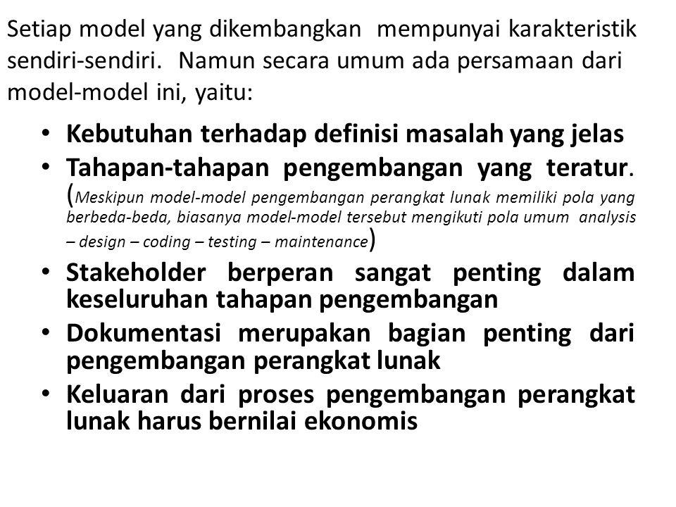 Kebutuhan terhadap definisi masalah yang jelas