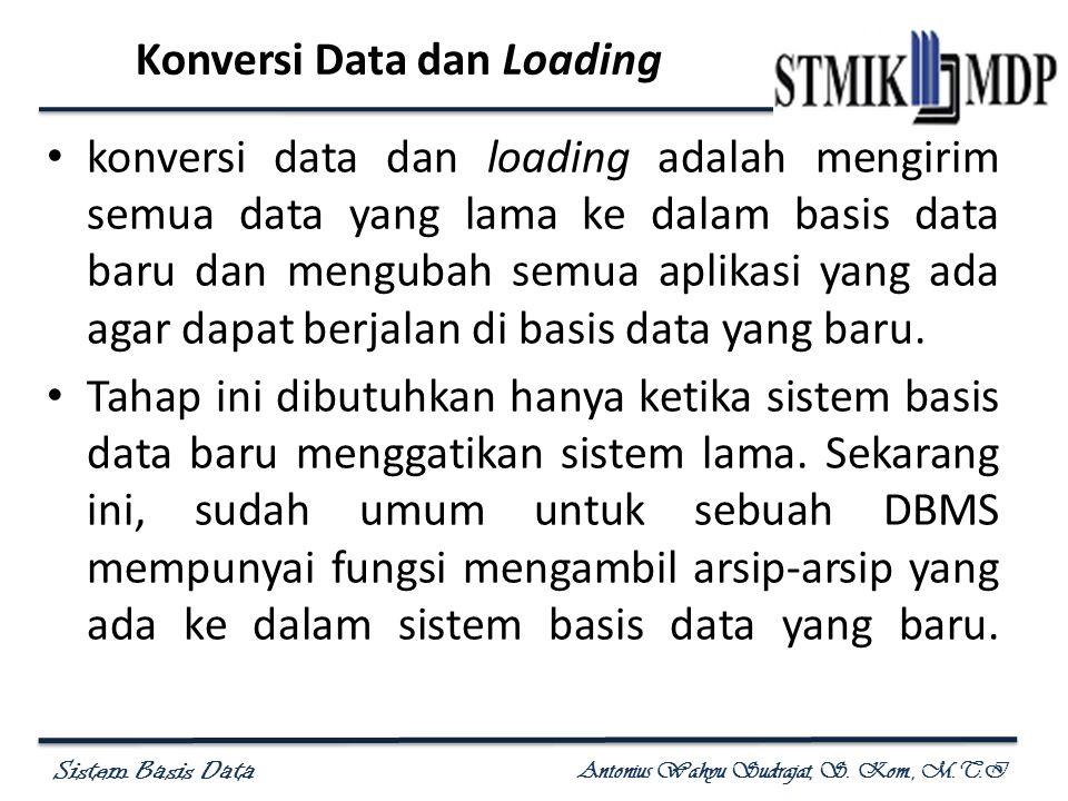 Konversi Data dan Loading