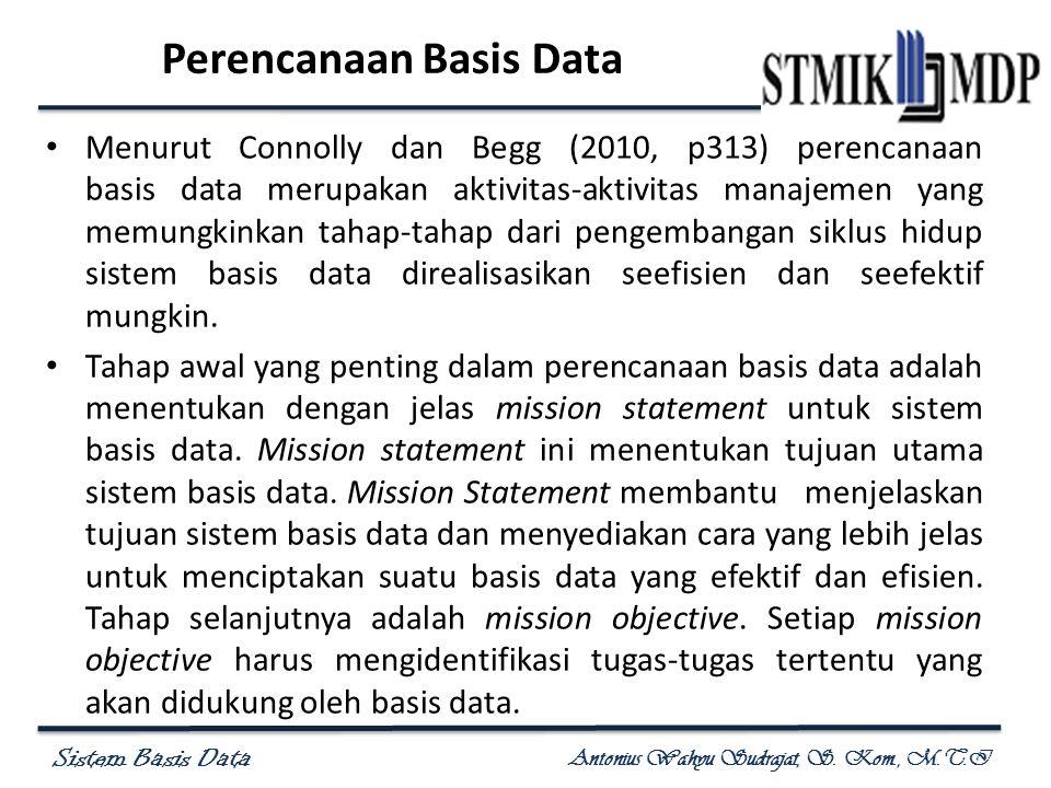 Perencanaan Basis Data