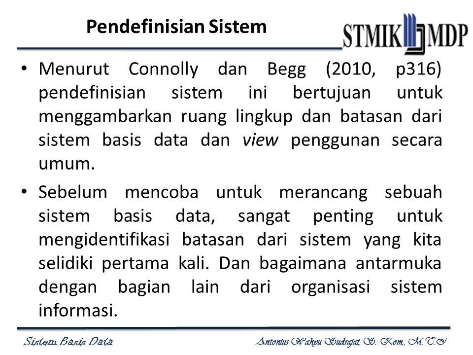 Pendefinisian Sistem
