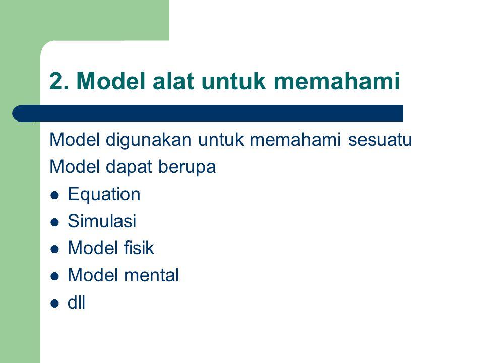 2. Model alat untuk memahami