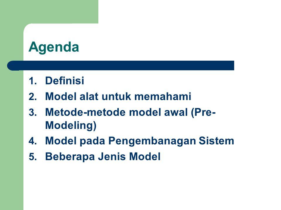 Agenda Definisi Model alat untuk memahami