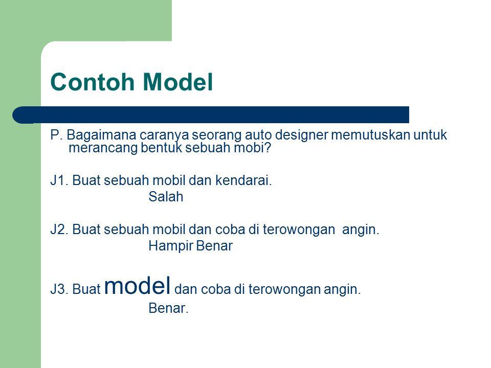 Contoh Model P. Bagaimana caranya seorang auto designer memutuskan untuk merancang bentuk sebuah mobi