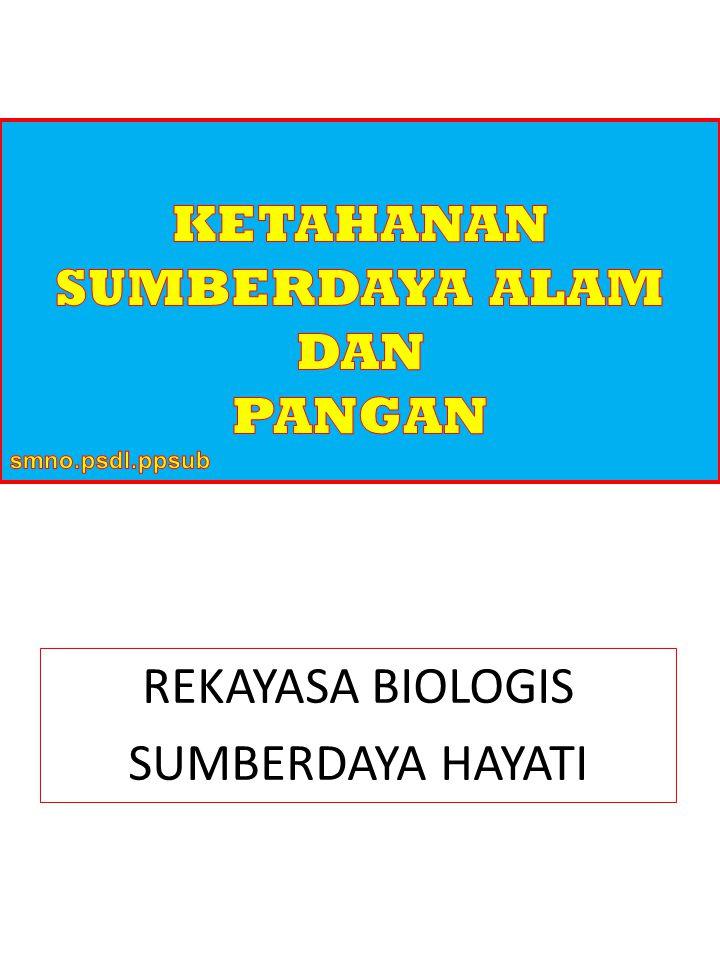 REKAYASA BIOLOGIS SUMBERDAYA HAYATI