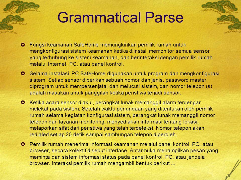 Grammatical Parse