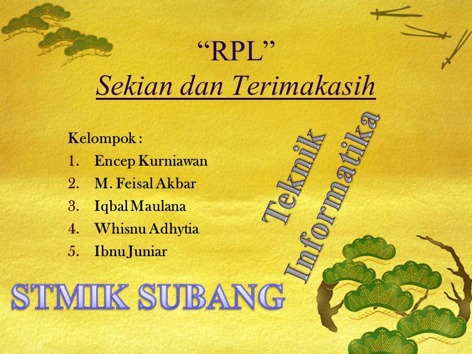RPL Sekian dan Terimakasih