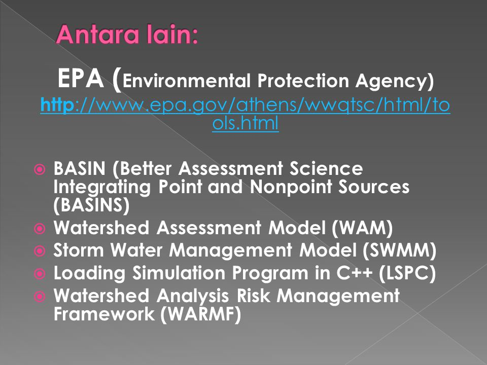 EPA (Environmental Protection Agency)
