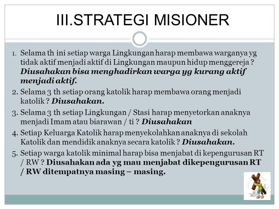 III.STRATEGI MISIONER