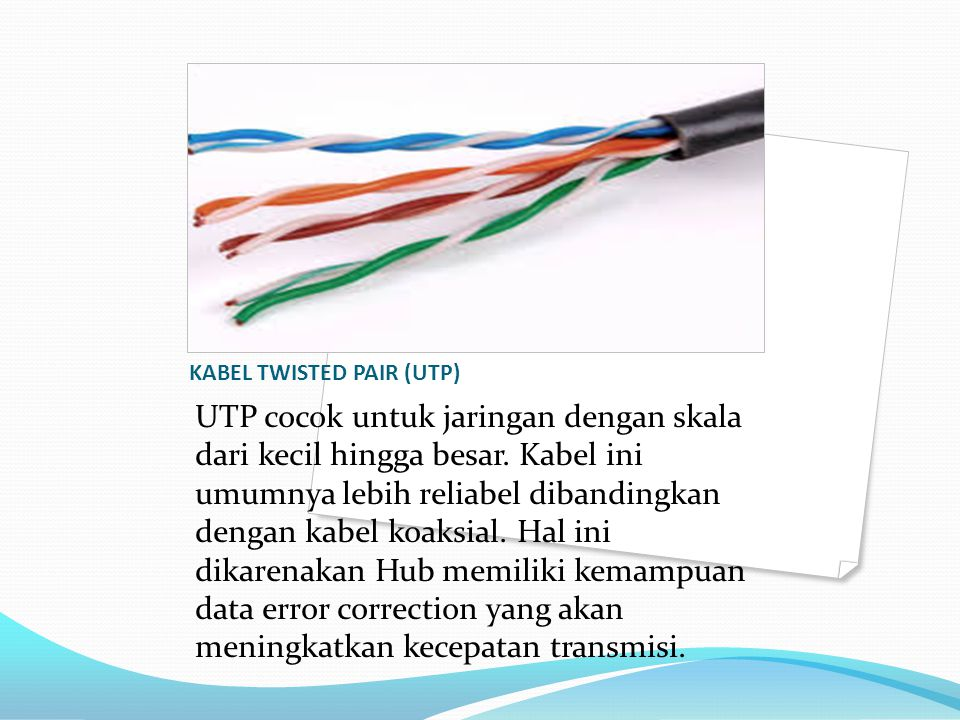 KABEL TWISTED PAIR (UTP)