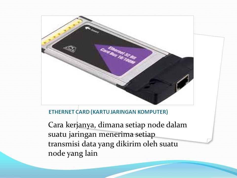 ETHERNET CARD (KARTU JARINGAN KOMPUTER)