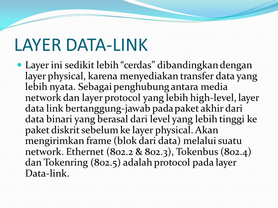 LAYER DATA-LINK