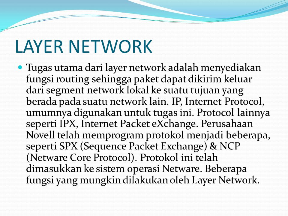 LAYER NETWORK