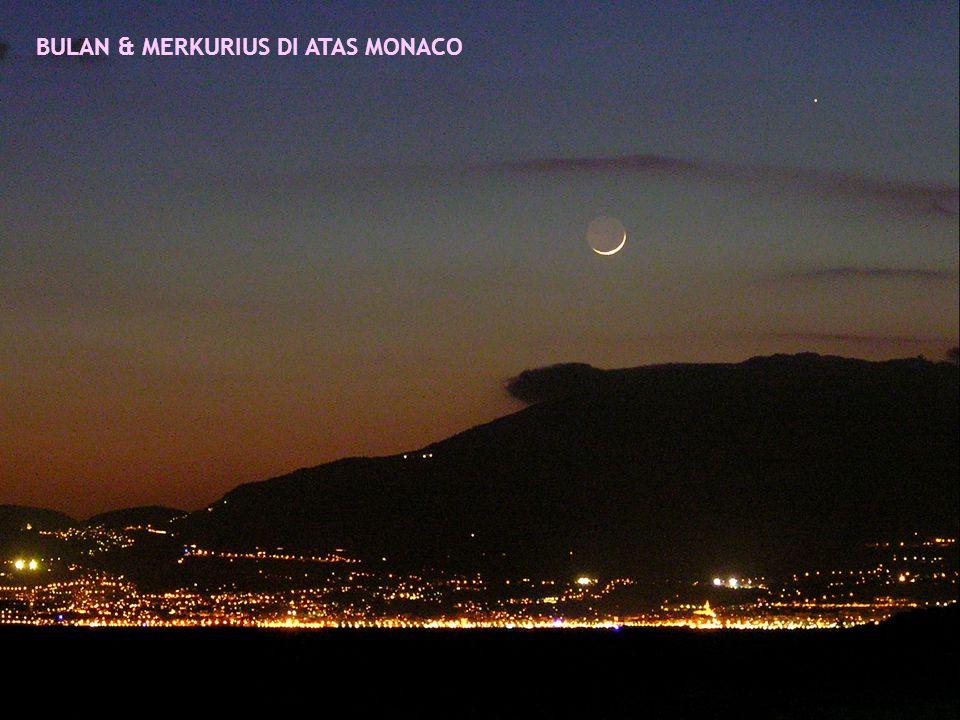 BULAN & MERKURIUS DI ATAS MONACO