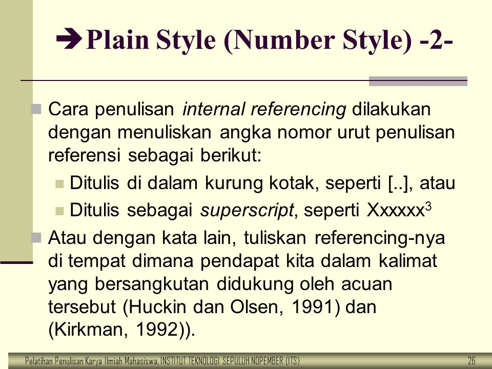 Plain Style (Number Style) -2-