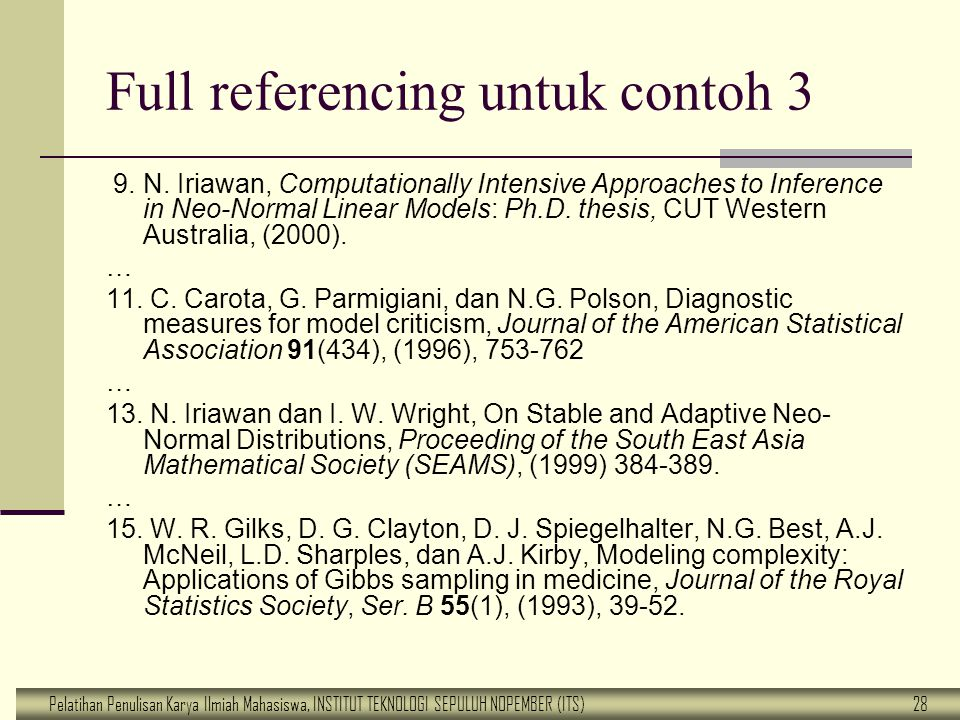 Full referencing untuk contoh 3