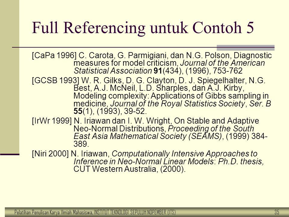 Full Referencing untuk Contoh 5