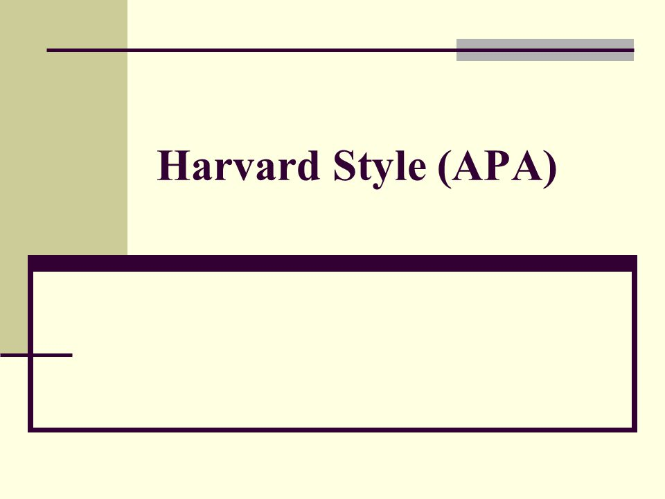 Harvard Style (APA)