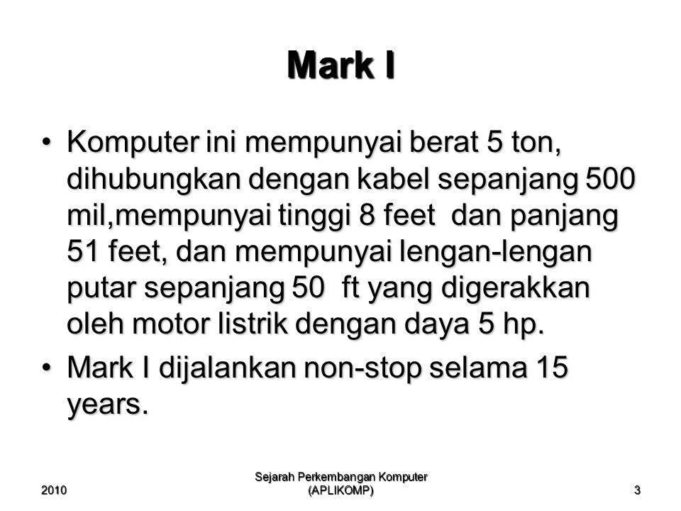 Sejarah Perkembangan Komputer (APLIKOMP)