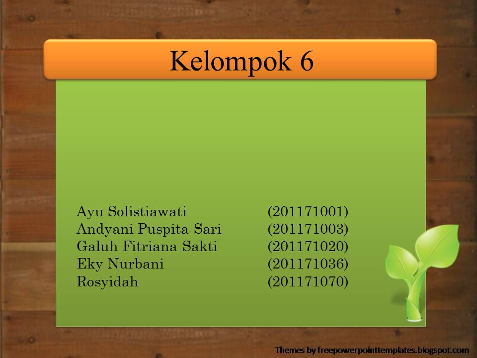 Kelompok 6 Ayu Solistiawati (201171001)