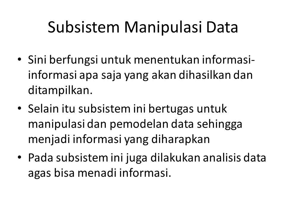 Subsistem Manipulasi Data