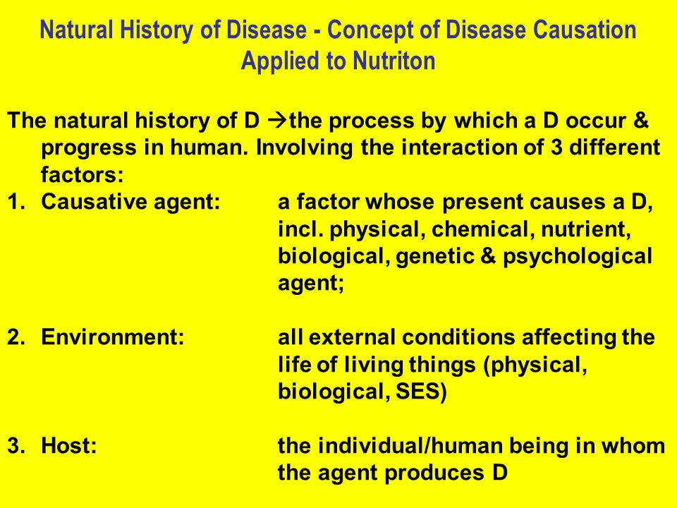 Natural History of Disease - Concept of Disease Causation