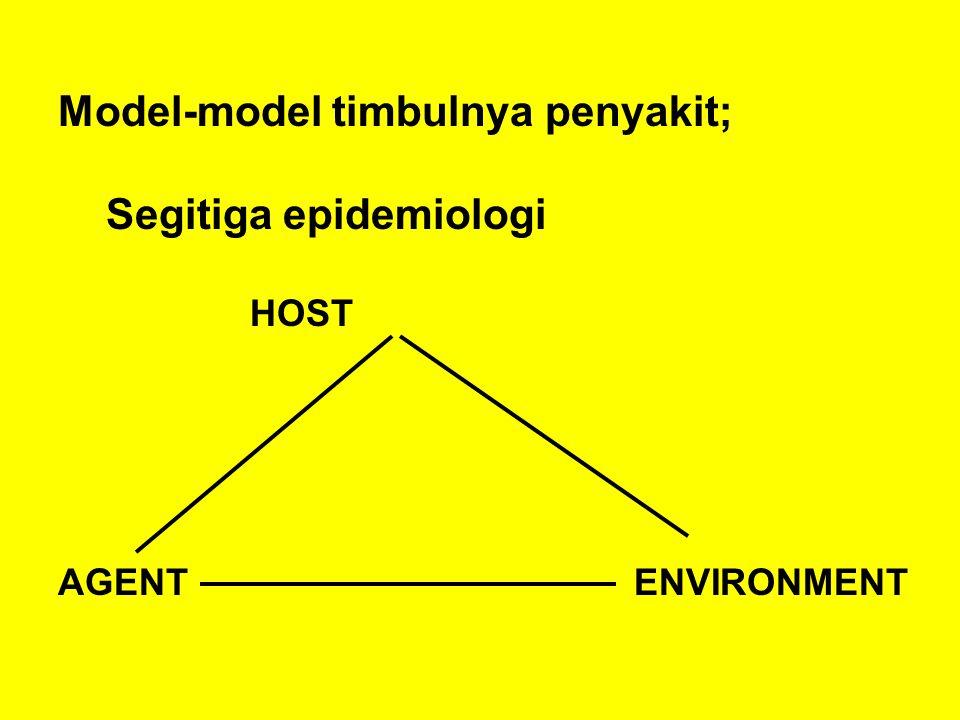 Model-model timbulnya penyakit; Segitiga epidemiologi