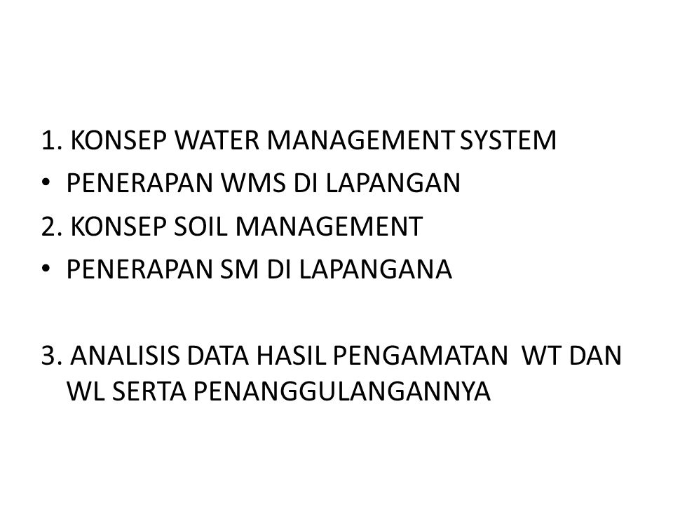 1. KONSEP WATER MANAGEMENT SYSTEM