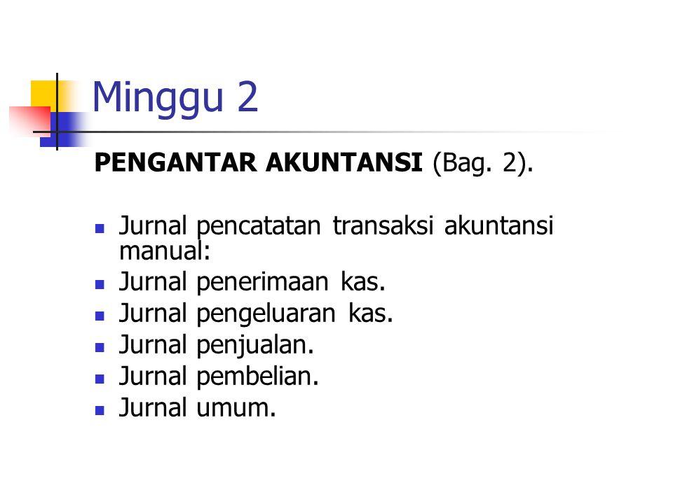 Minggu 2 PENGANTAR AKUNTANSI (Bag. 2).