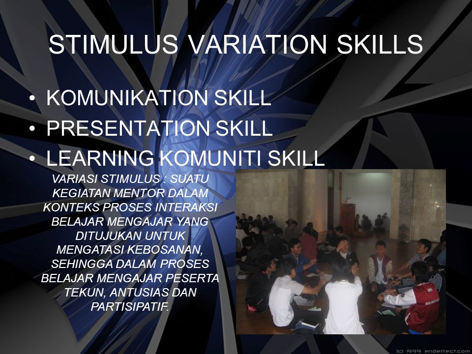 STIMULUS VARIATION SKILLS