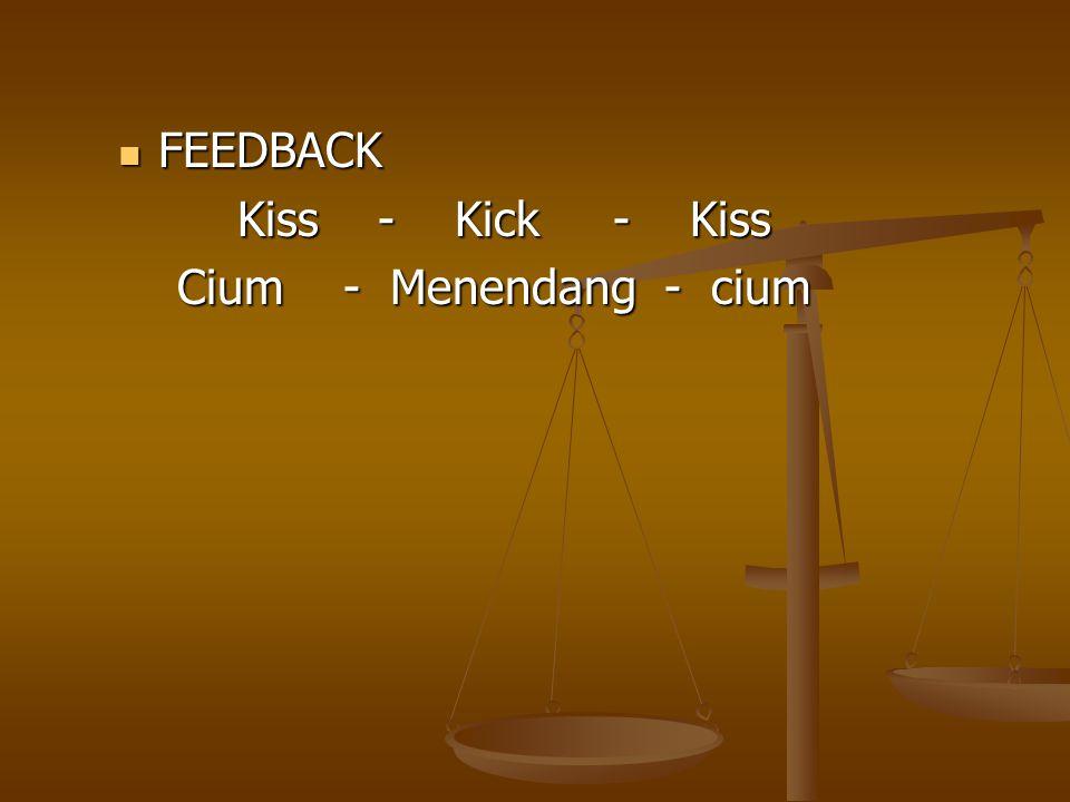 FEEDBACK Kiss - Kick - Kiss Cium - Menendang - cium