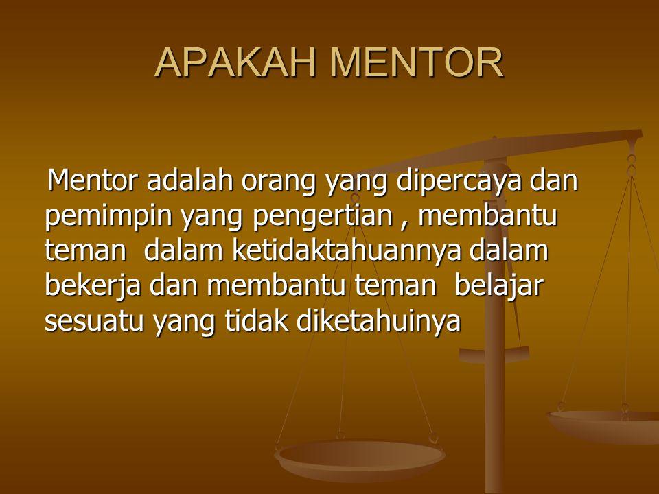 APAKAH MENTOR