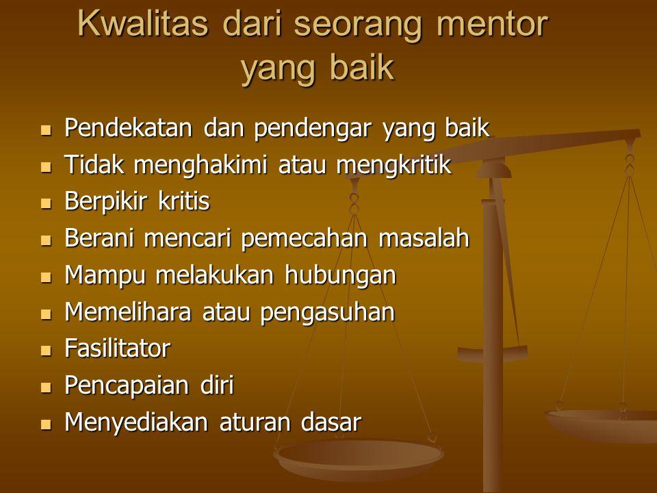 Kwalitas dari seorang mentor yang baik