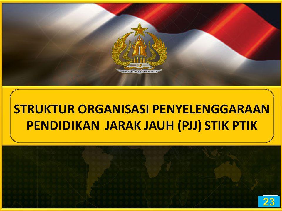 STRUKTUR ORGANISASI PENYELENGGARAAN PENDIDIKAN JARAK JAUH (PJJ) STIK PTIK