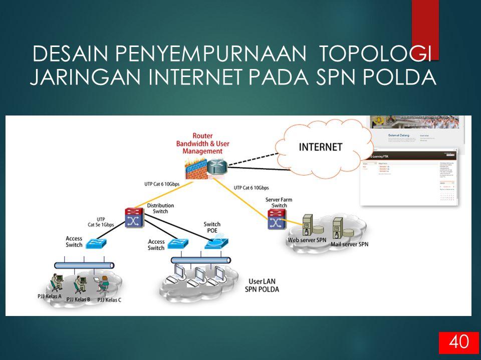 DESAIN PENYEMPURNAAN TOPOLOGI JARINGAN INTERNET PADA SPN POLDA
