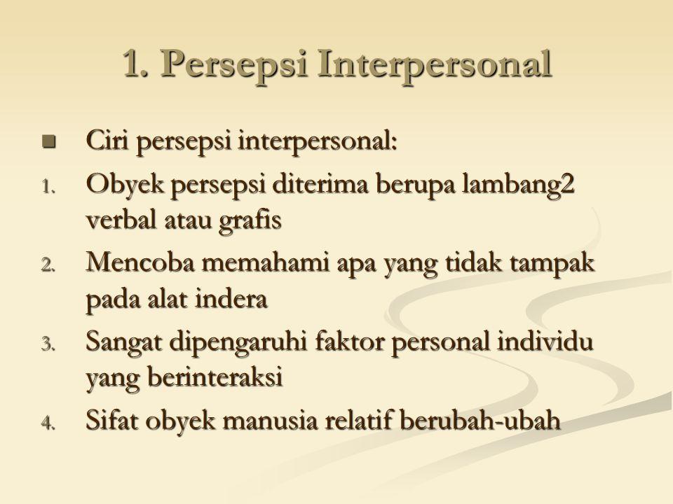 1. Persepsi Interpersonal