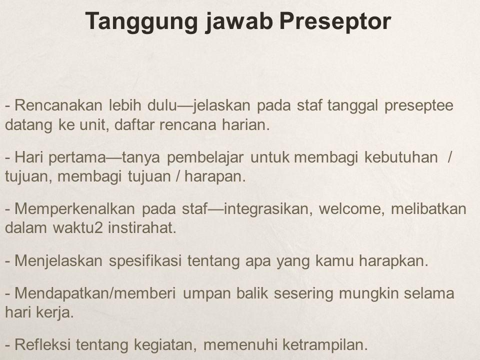 Tanggung jawab Preseptor