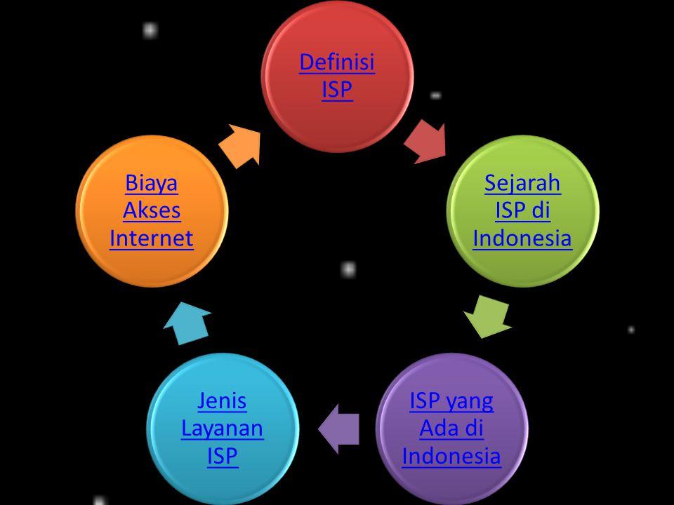 Sejarah ISP di Indonesia ISP yang Ada di Indonesia Jenis Layanan ISP